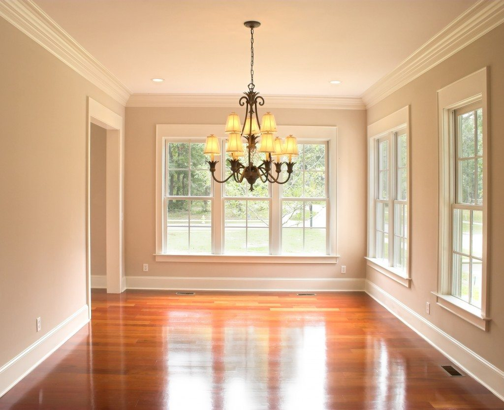 Unfurnished diningroom with lots of windows place your own furniture
